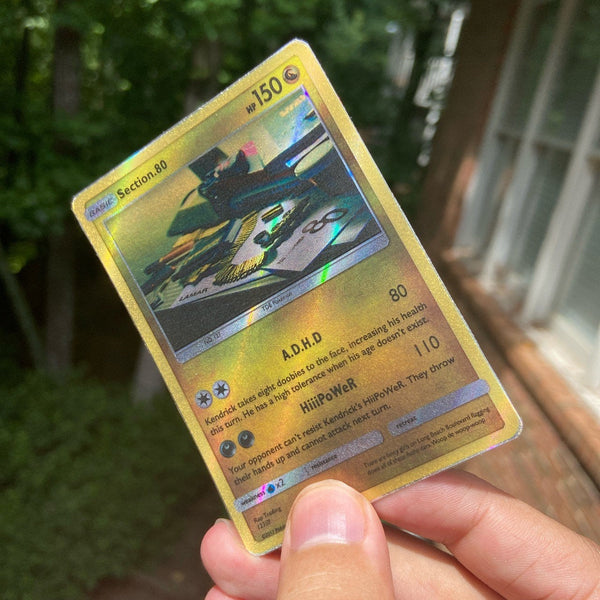 Section.80 Pokémon Inspired Custom Holographic Cards