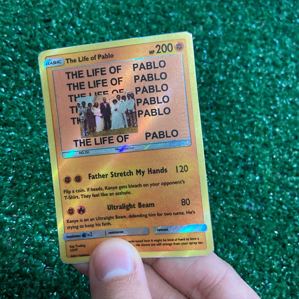 Kanye West The Life of Pablo Pokémon Inspired Custom Holographic Cards