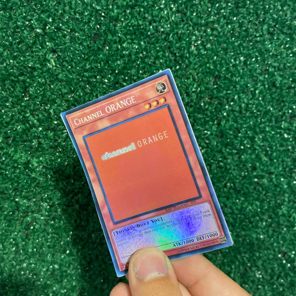 Channel Orange Frank Ocean Yu-Gi-Oh Inspired Custom Holographic Cards