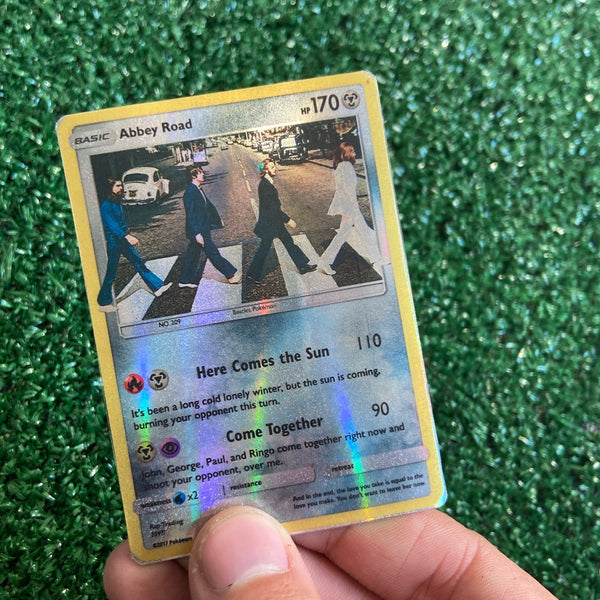 The Beatles Abbey Road Inspired Custom Holographic Cards
