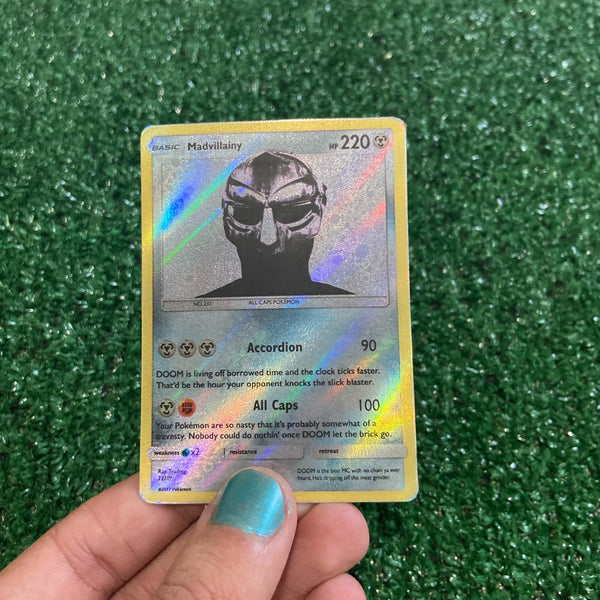 MF DOOM Madvillainy Inspired Custom Holographic Cards