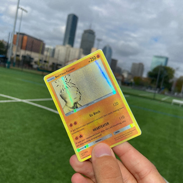 XXXTENTACION Bad Vibes Forever Pokémon Inspired Custom Holographic Cards