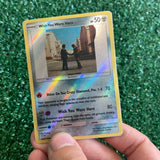 Pink Floyd Wish You Were Here Inspired Custom Holographic Cards