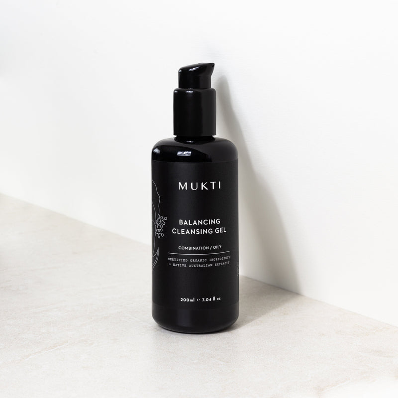 Mukti Organics Skincare Balancing Cleansing Gel - The Beauty Garden Boutique