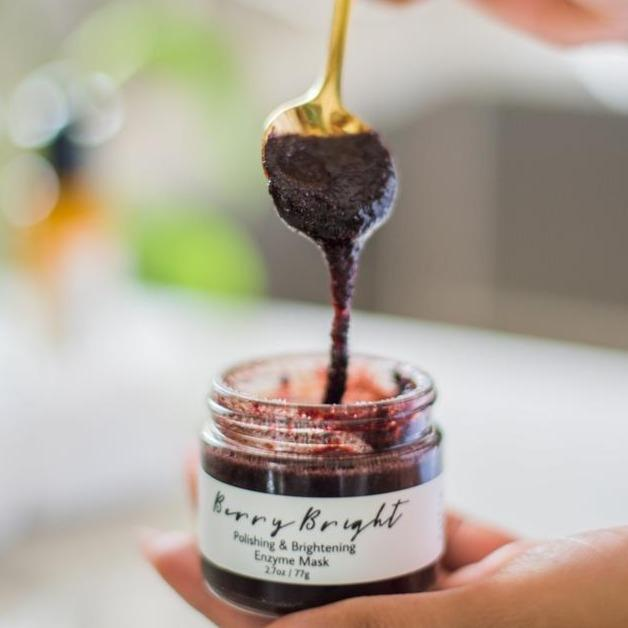 Me Time Botanicals | Berry Bright Polishing & Brightening Enzyme Mask | The Beauty Garden Boutique