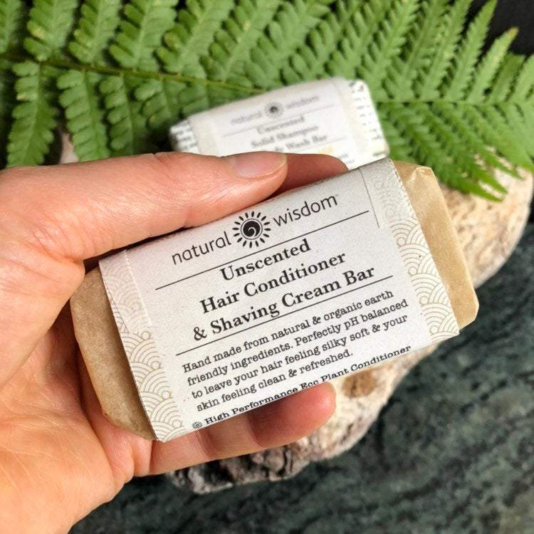Natural Wisdom Spa Unscented Natural Conditioner & Shaving Cream Bar - The Beauty Garden Boutique