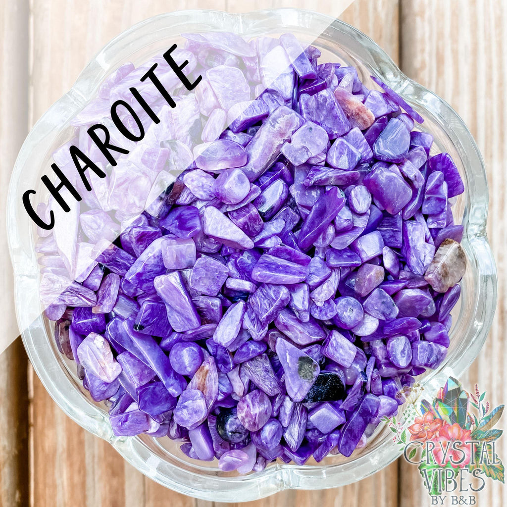 Charoite Crystal Chips