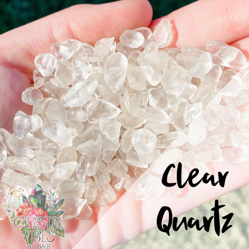 Clear Quartz Crystal Chips