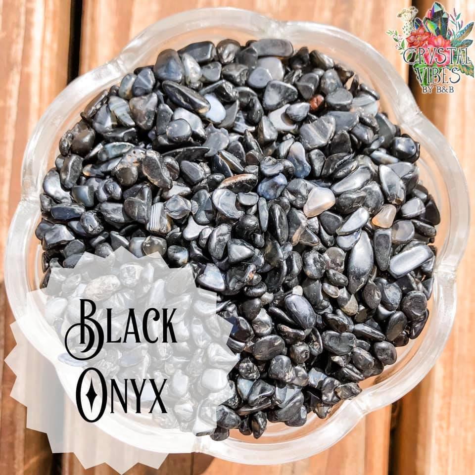 Black Onyx Crystal Chips