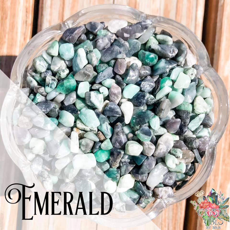 Emerald Crystal Chips