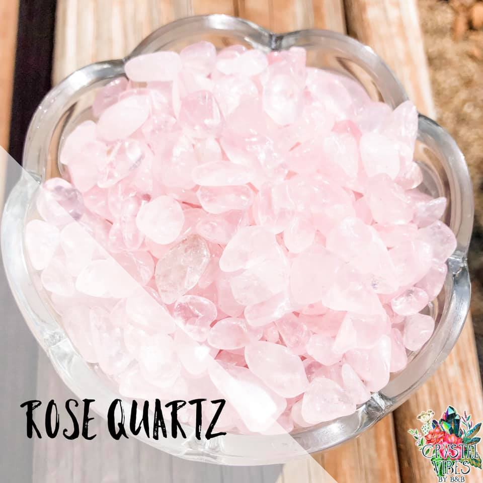 Rose Quartz Crystal Chips