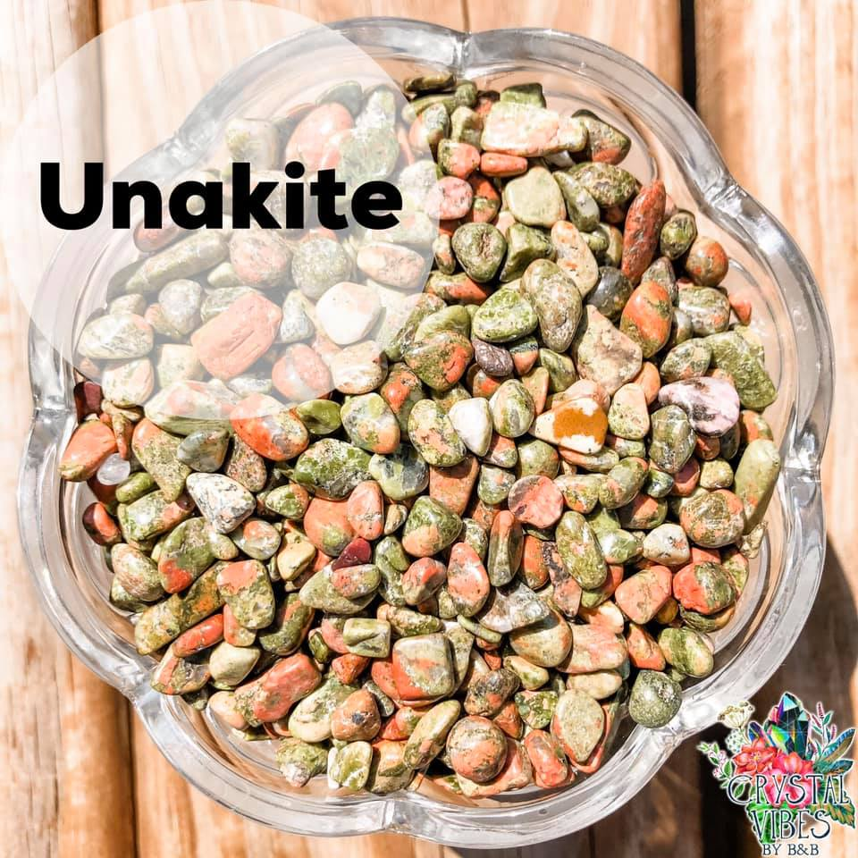 Unakite Crystal Chips