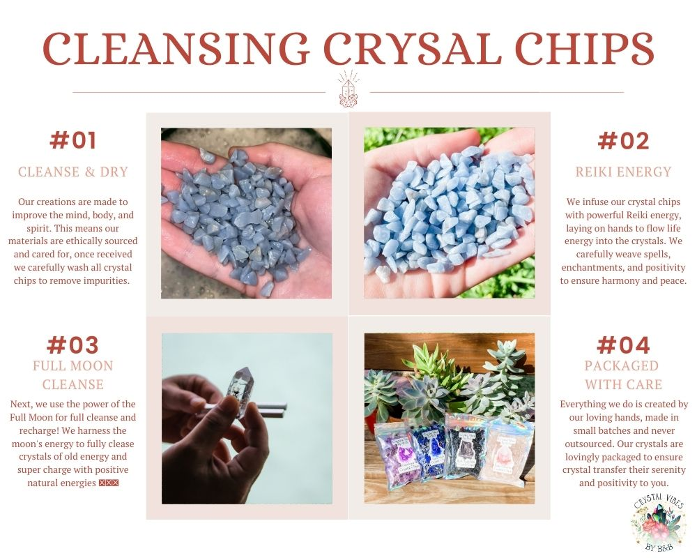Lilac Kunzite Crystal Chips