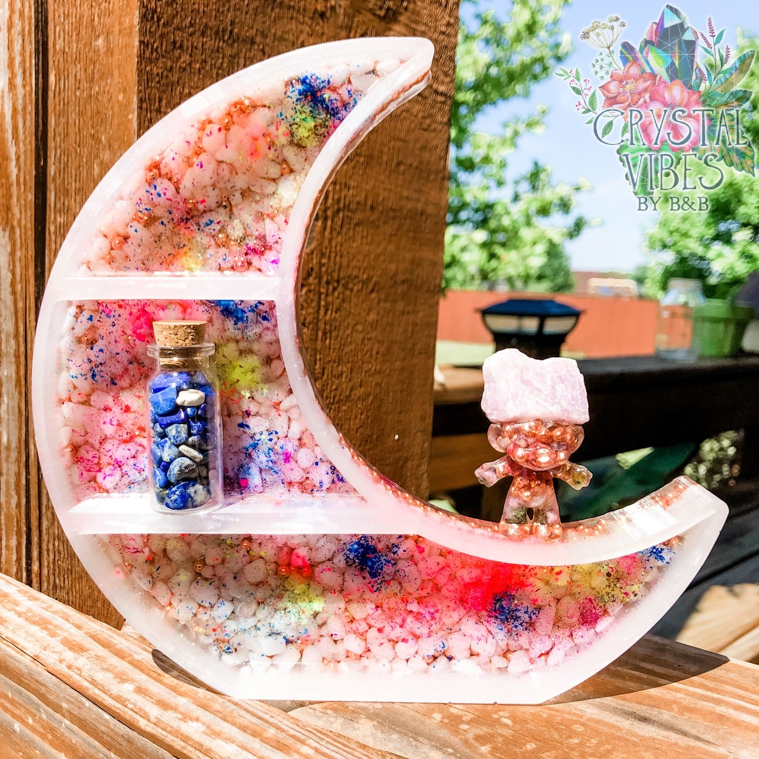 Crescent Moon Cleansing Shelf
