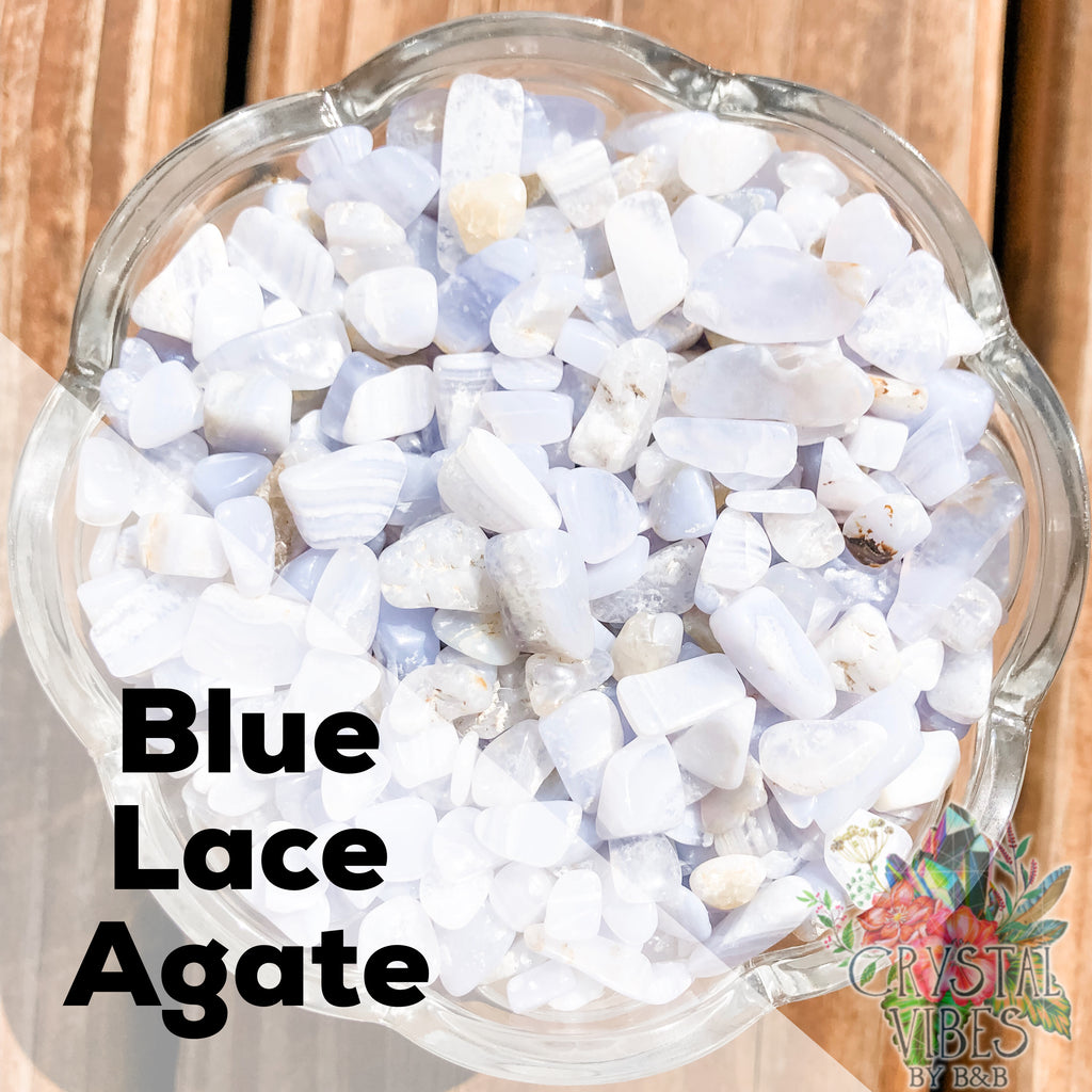 Blue Lace Agate Crystal Chips