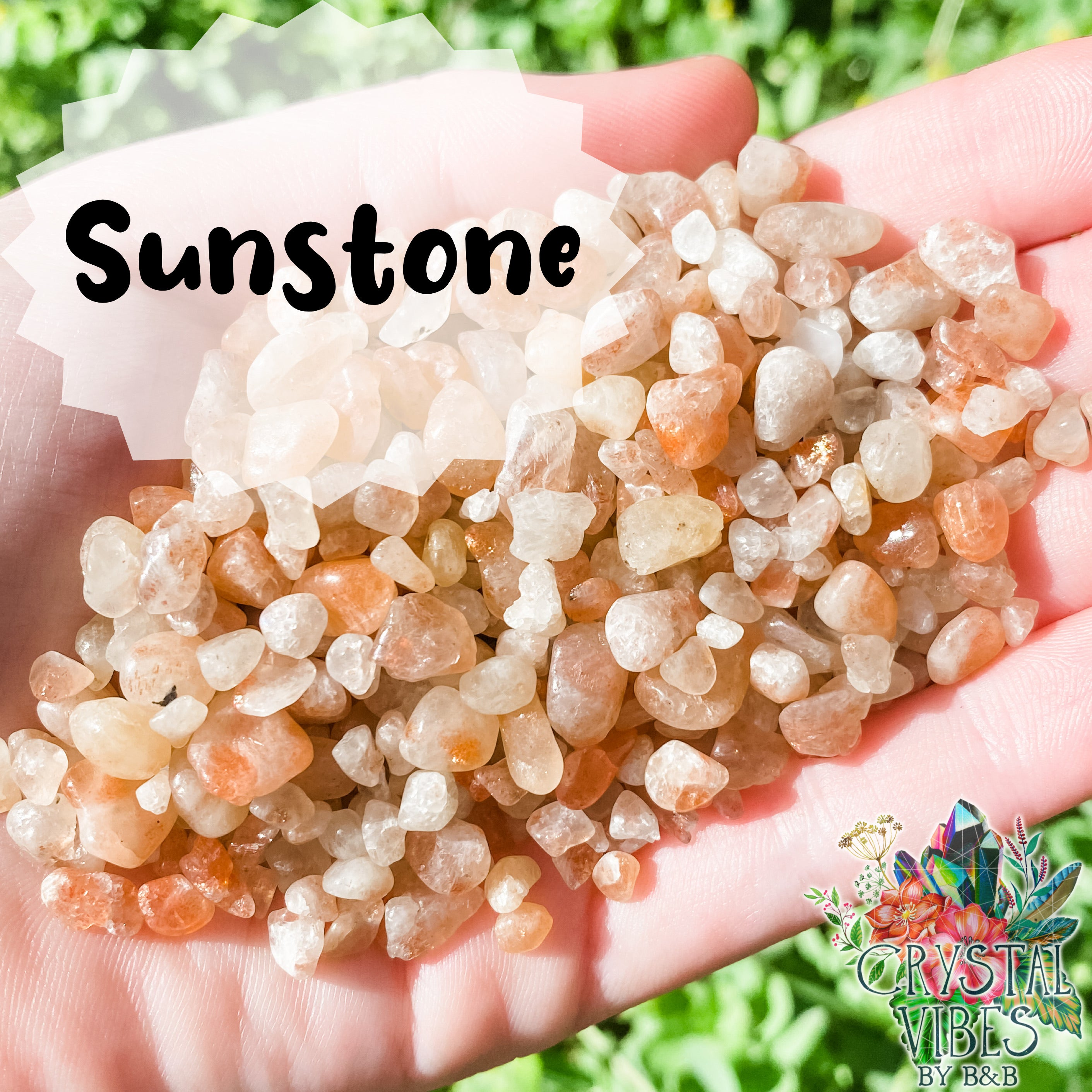 Sunstone Crystal Chips
