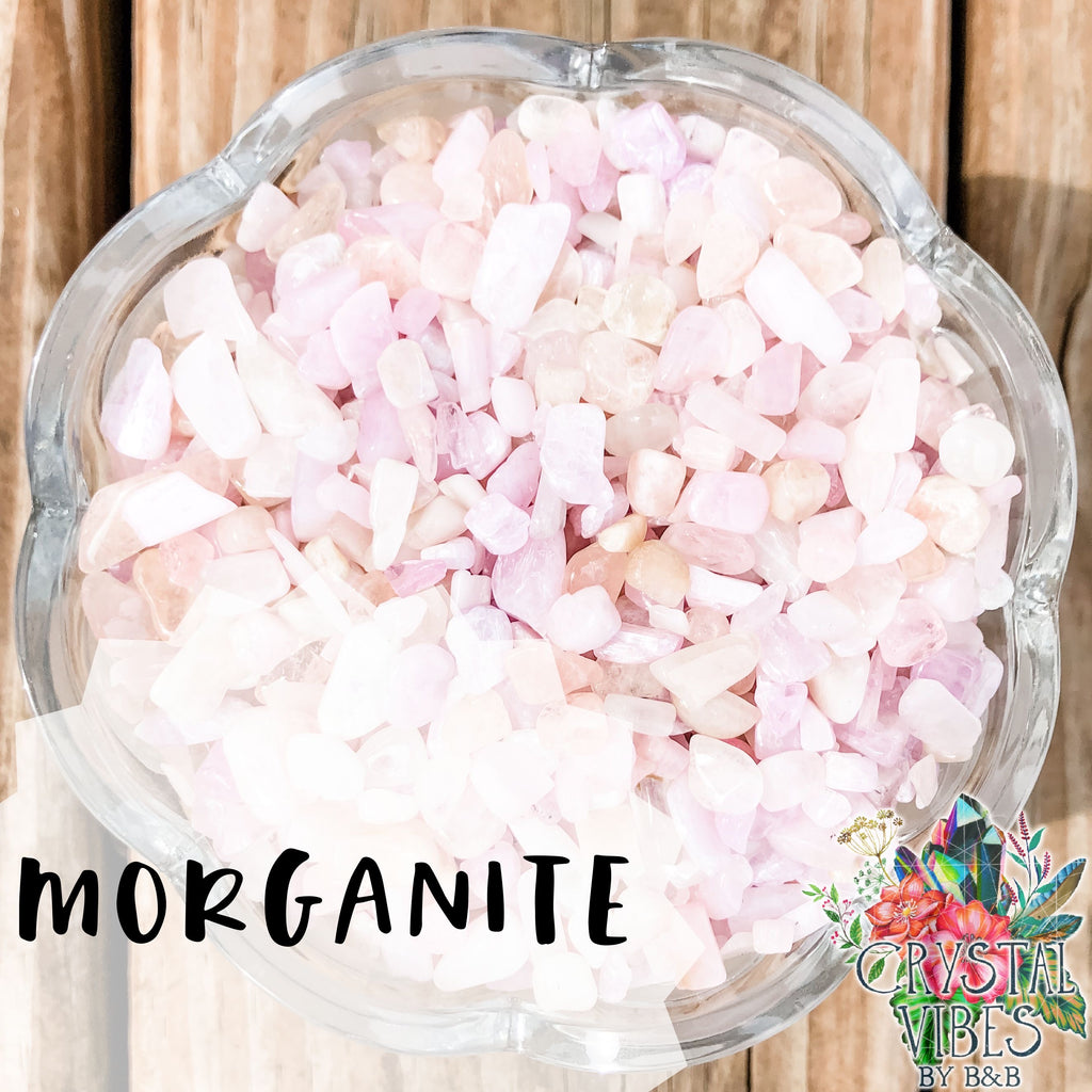 Morganite Crystal Chips