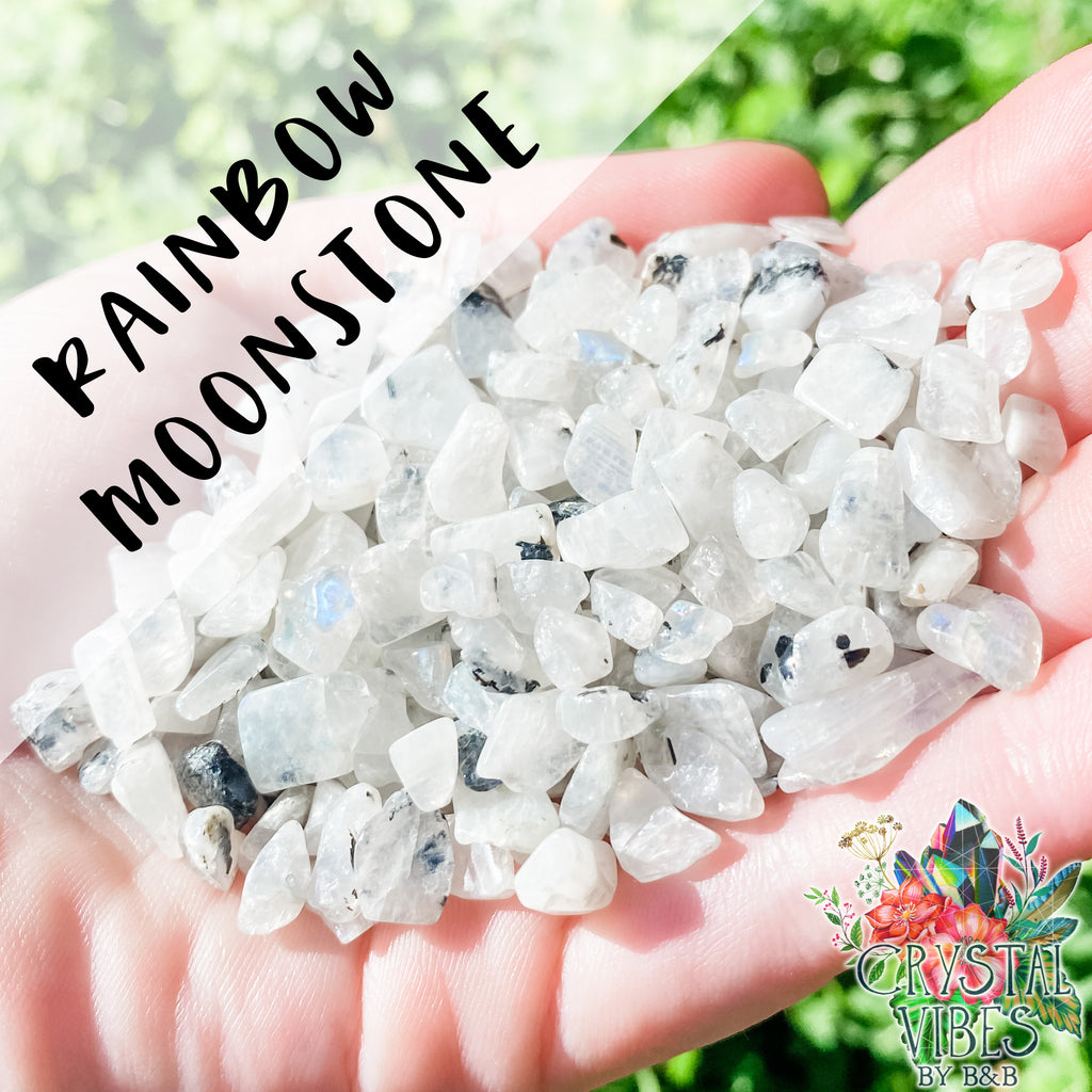 Rainbow Moonstone Crystal Chips