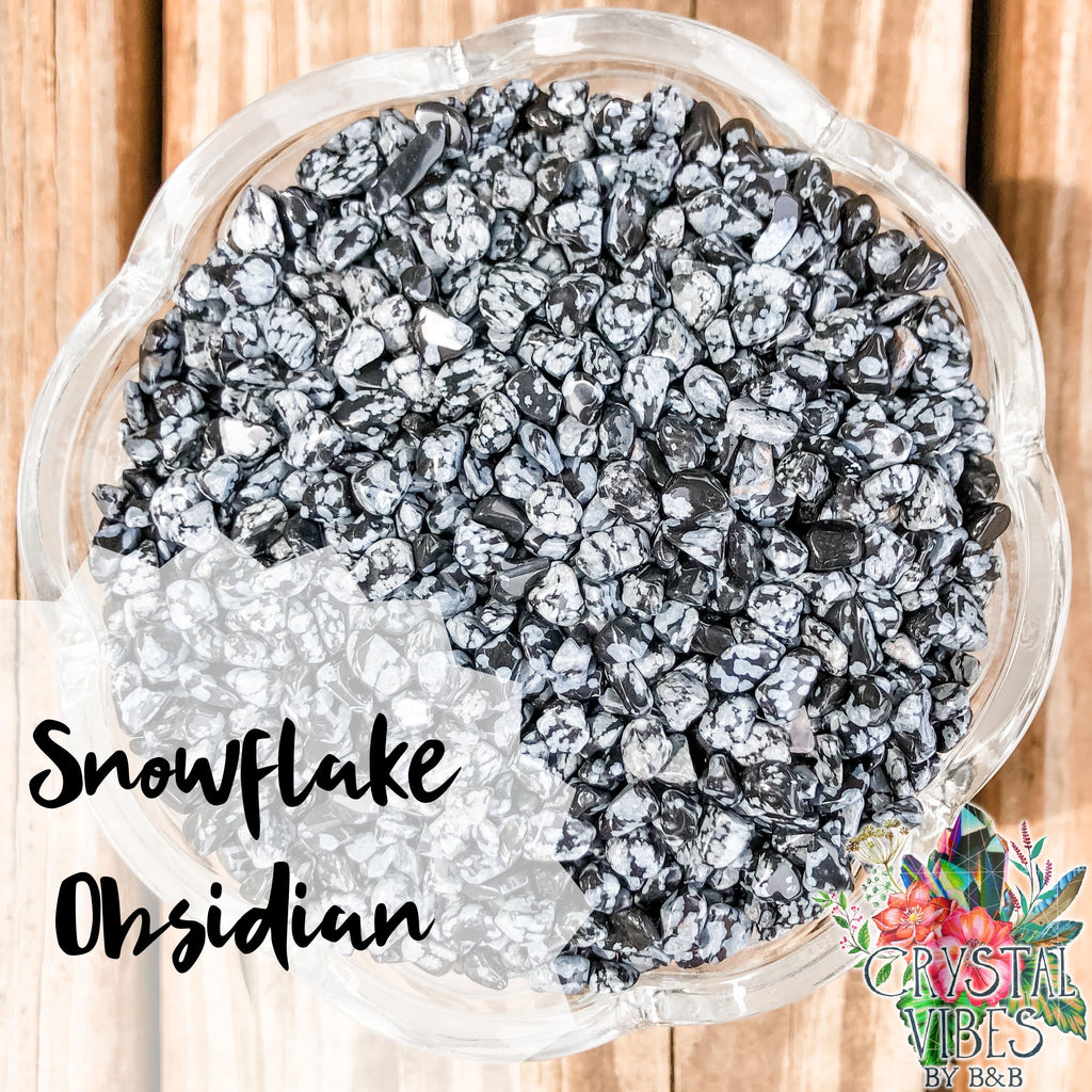 Snowflake Obsidian Crystal Chips