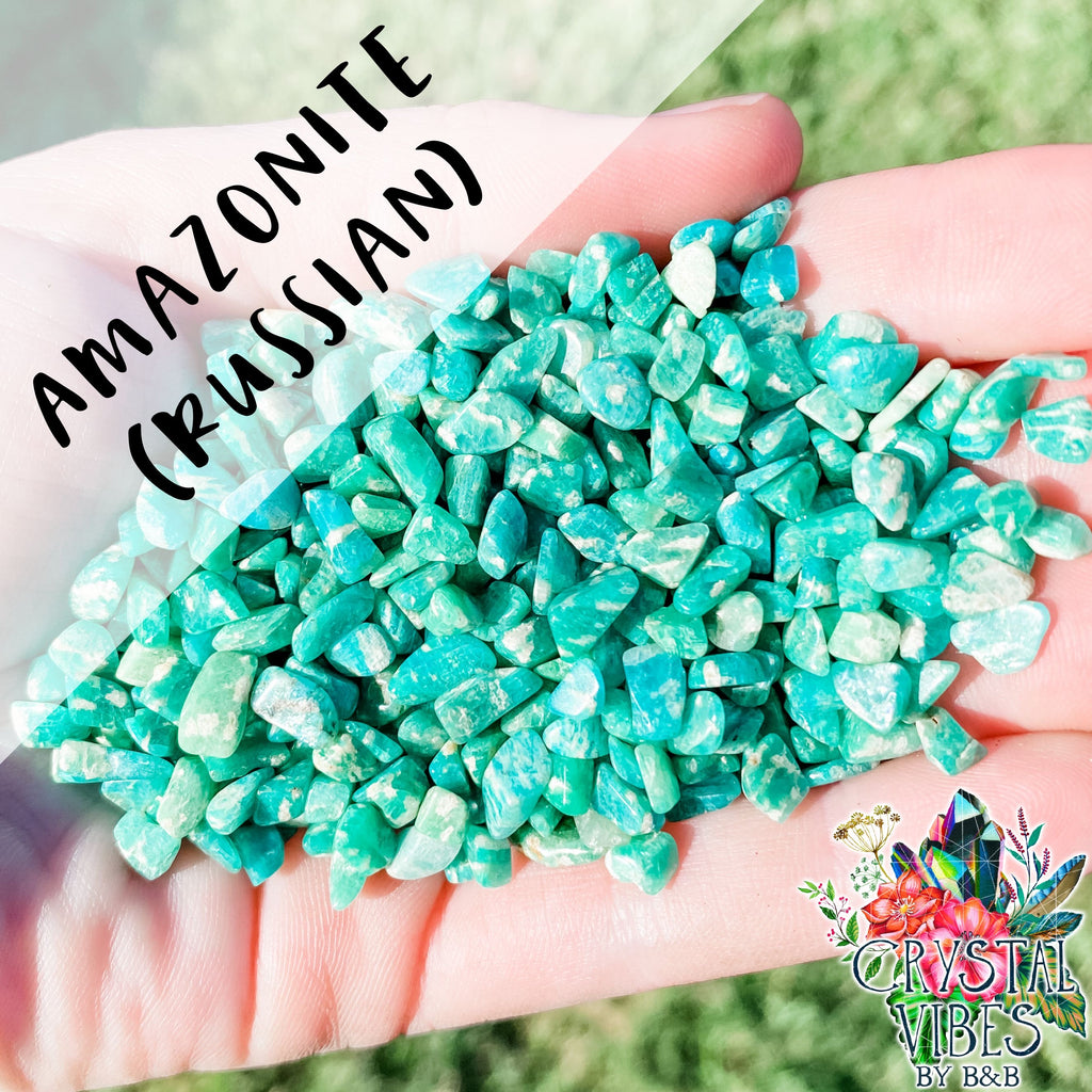 Amazonite (Russian) Crystal Chips