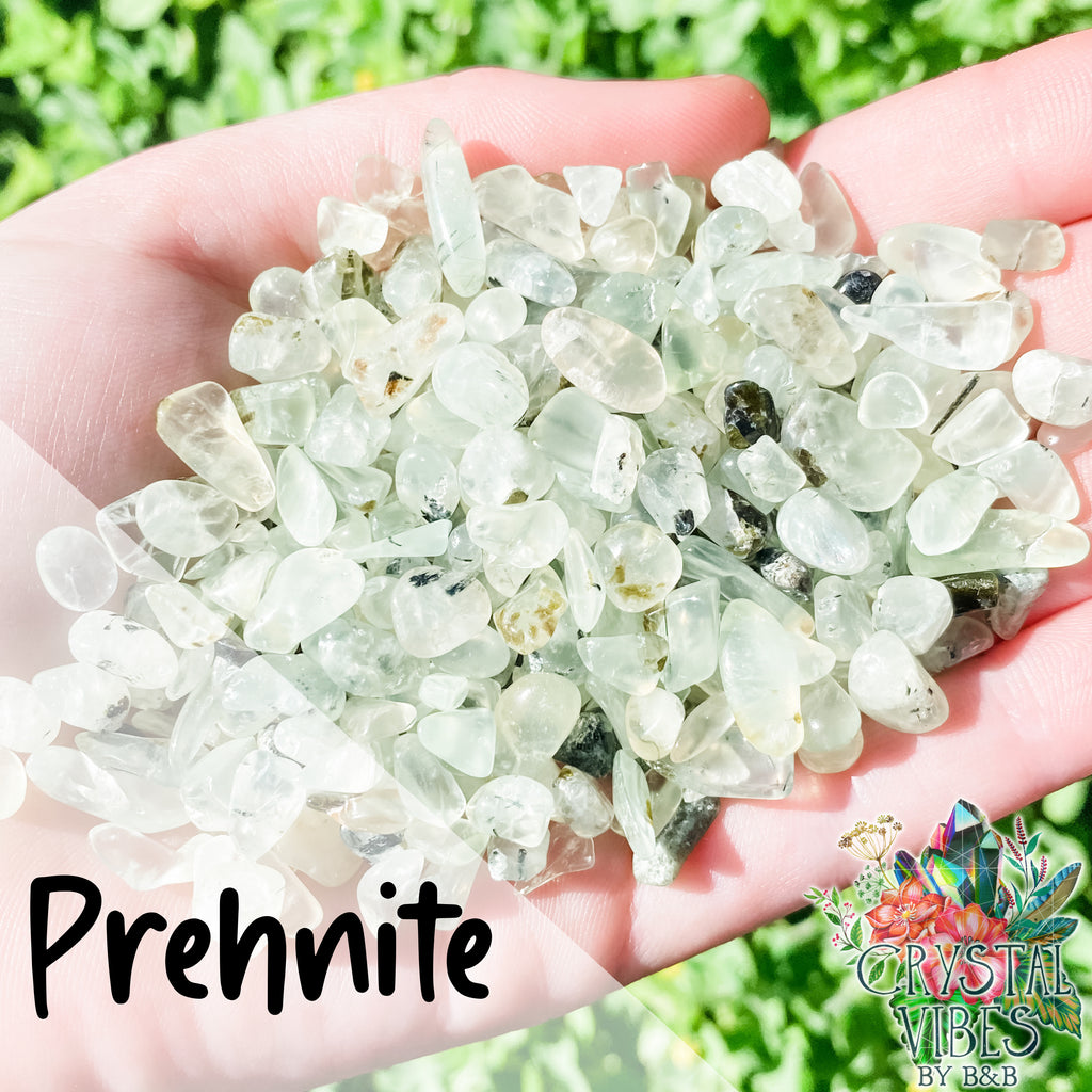 Prehnite Crystal Chips