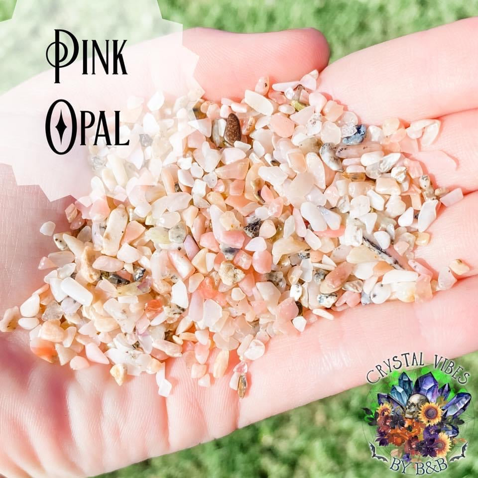 Pink Opal Crystal Chips