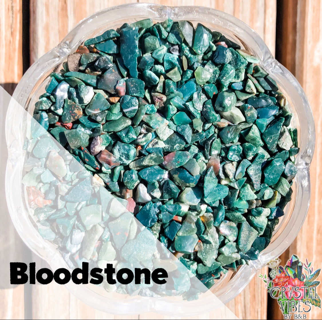 Bloodstone Crystal Chips