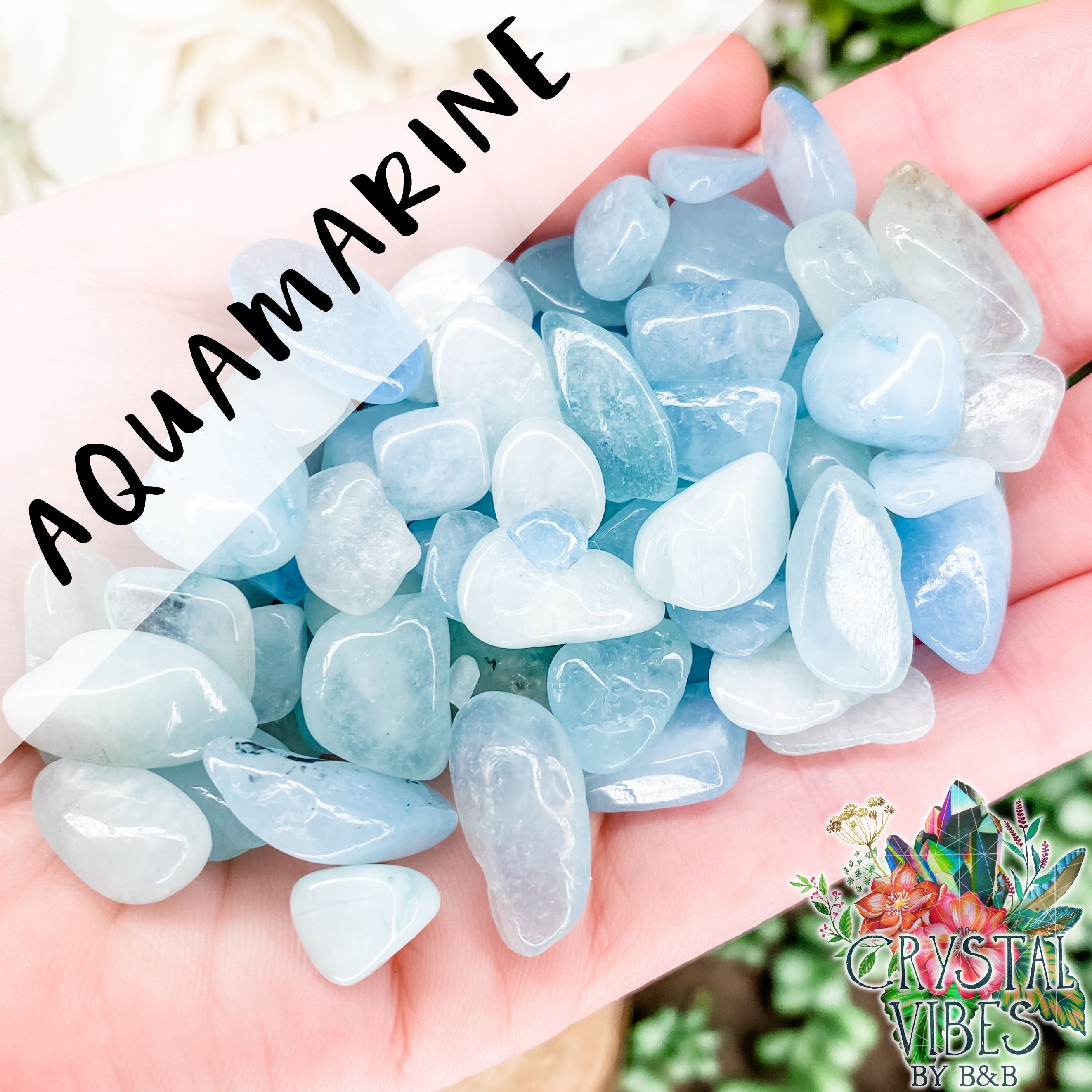 Aquamarine Crystal Chips