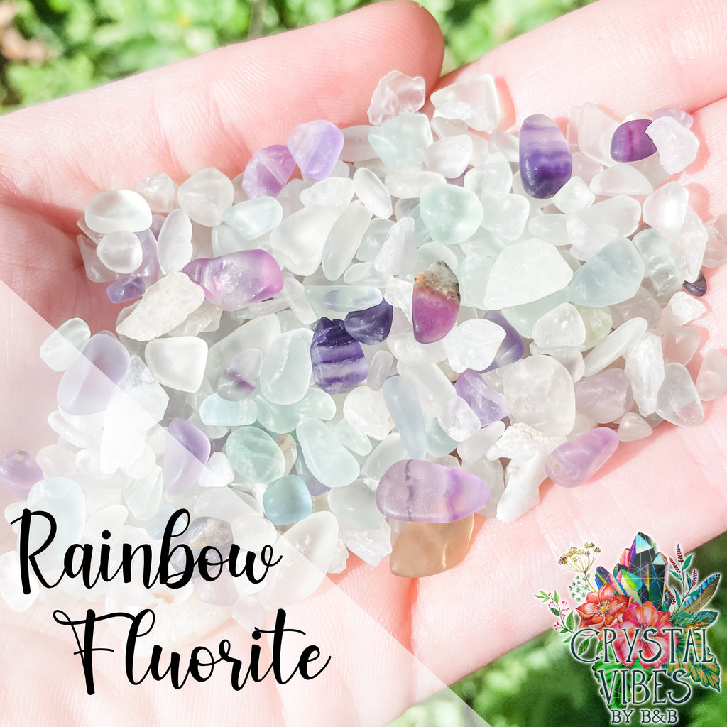 Rainbow Fluorite Crystal Chips