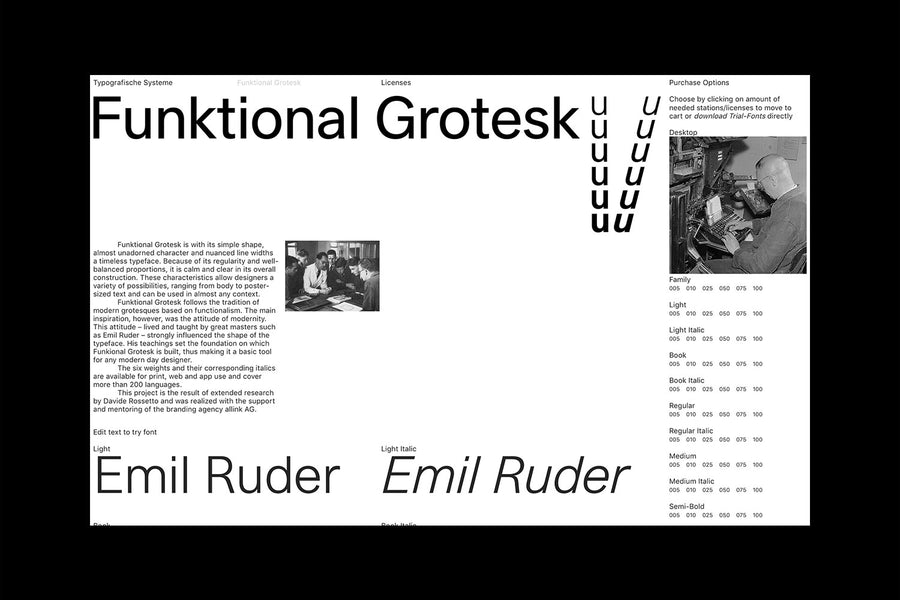 Typografische Systeme: Funktional Grotesk