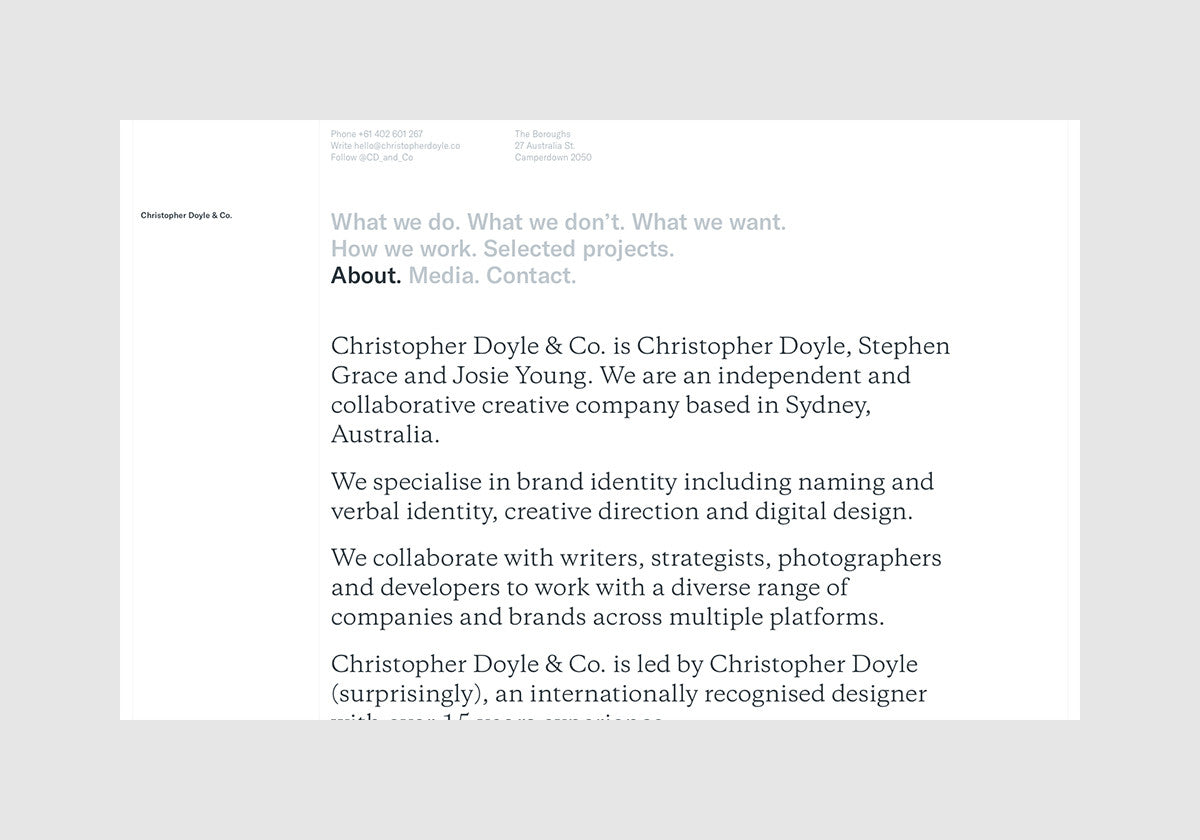 Christopher Doyle & Co: New website