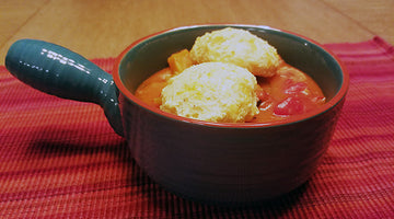 Chicken With Cornmeal Biscuits