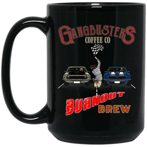 Burnout Brew Black Mug, 15 oz.