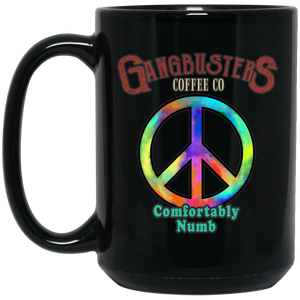 Comfortably Numb Black Mug, 15 oz.