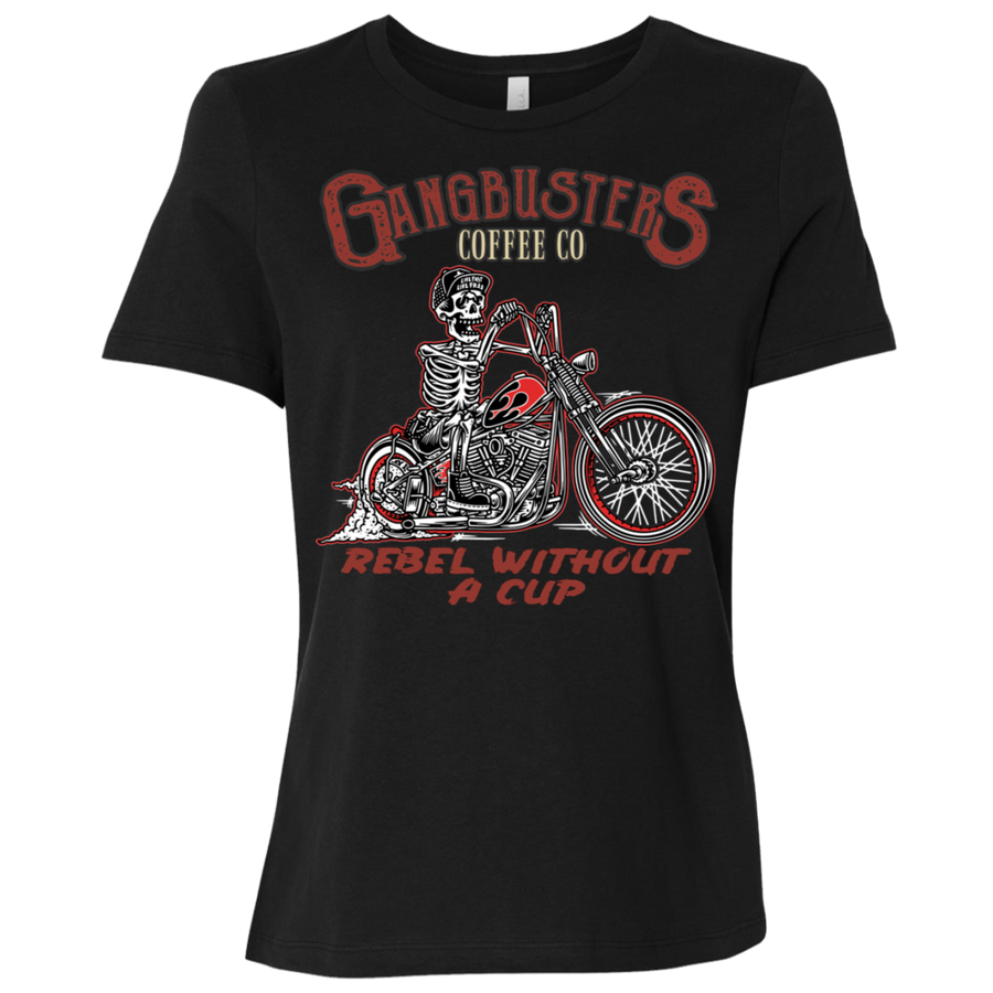 Rebel Without A Cup Womens Short Sleeve T-Shirt