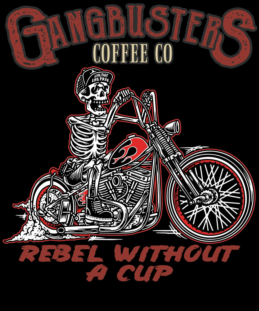 Rebel Without A Cup Black Mug, 15 oz.