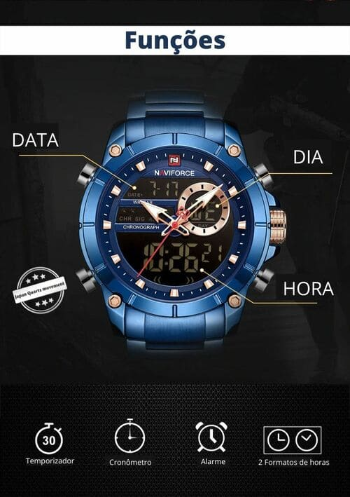 Relógio Naviforce Luxury - Masculino