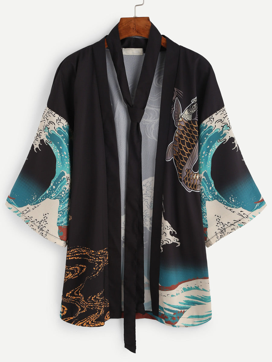 Waves of Time Kimono