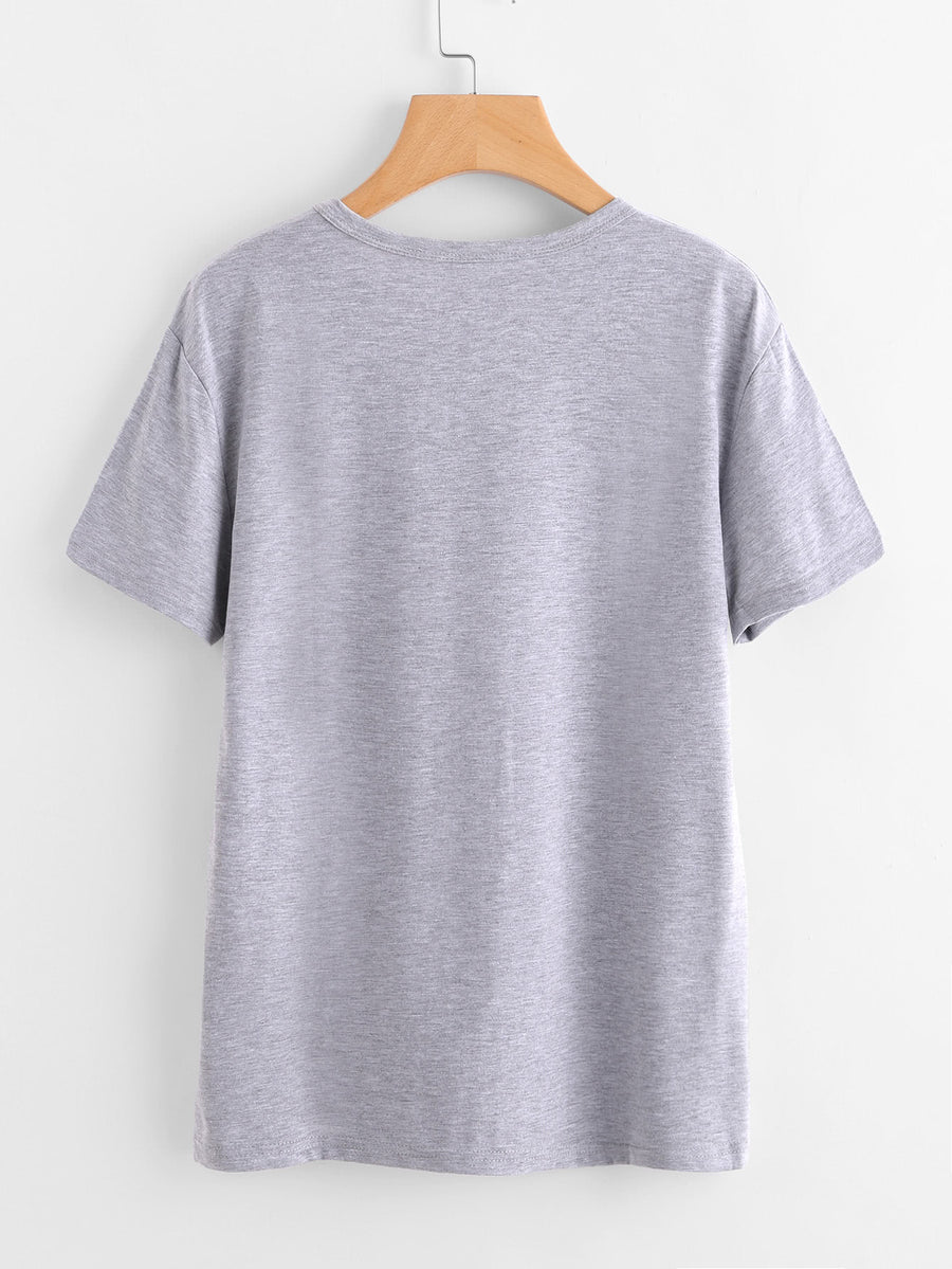 The Why Tee - Heather Grey