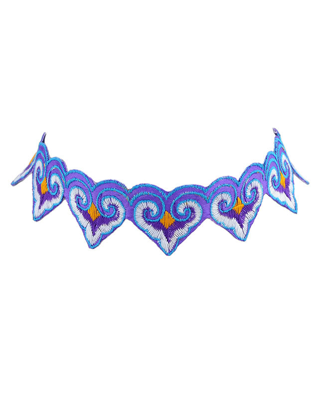 Island Girl Embroidered Choker