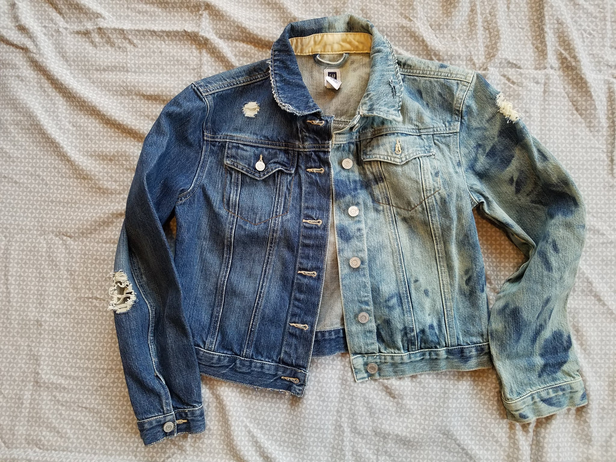 Prince Song Free Altered Denim Jacket 2 Toned