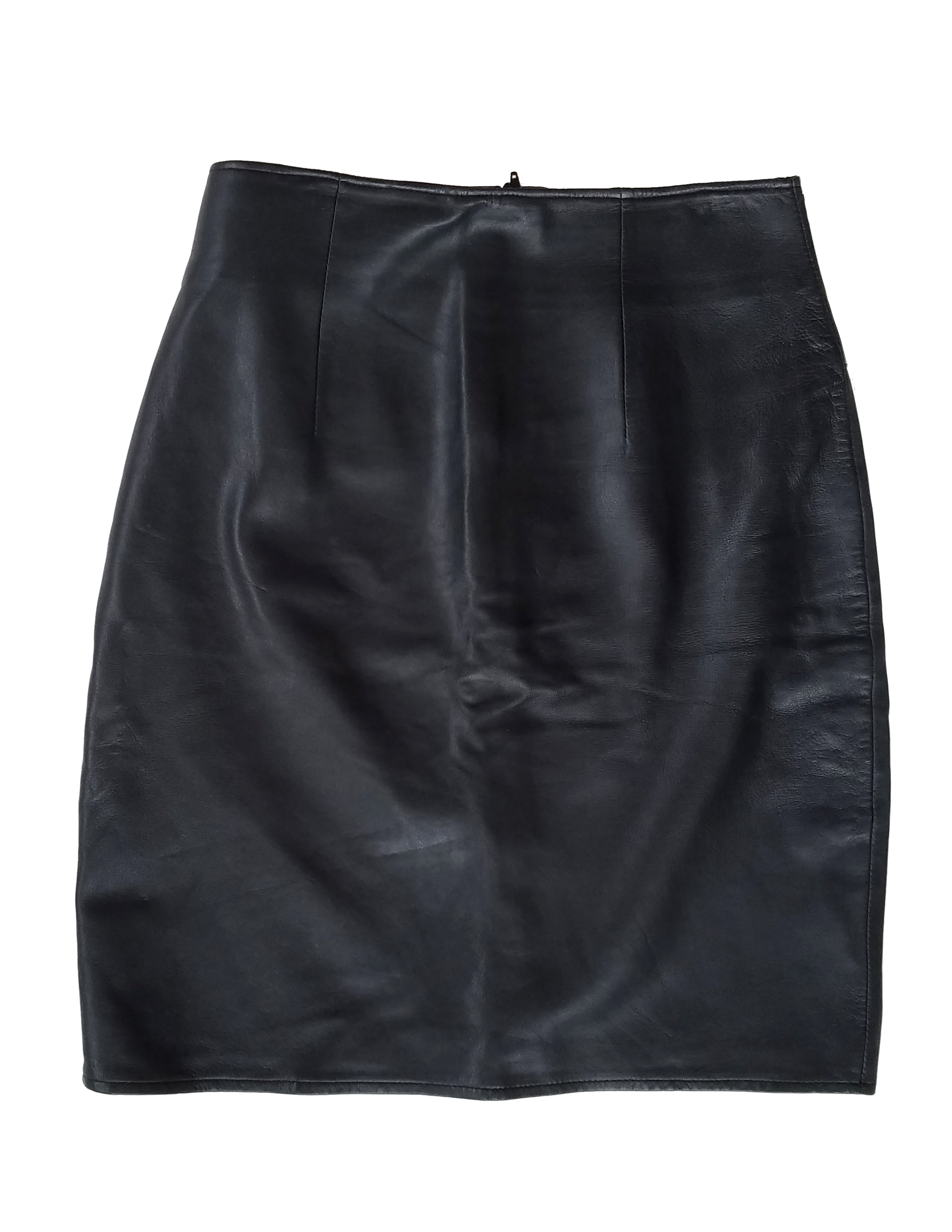 Vintage 90's Black Leather Mini Skirt