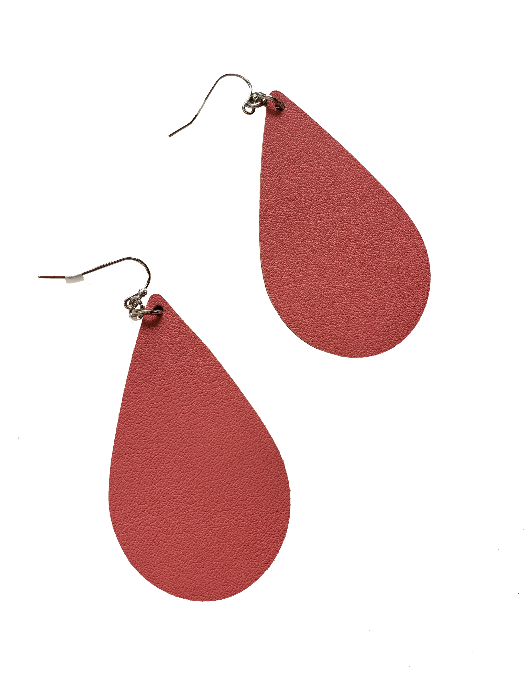 4 the Tears Vegan Leather Teardrop Earrings