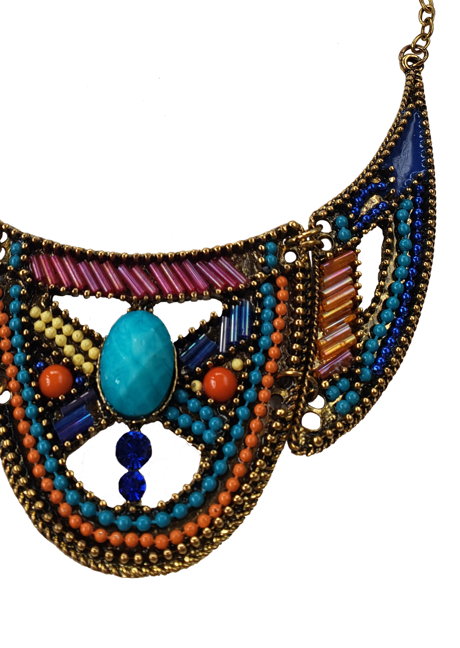 Lake Texcoco Beaded Necklace