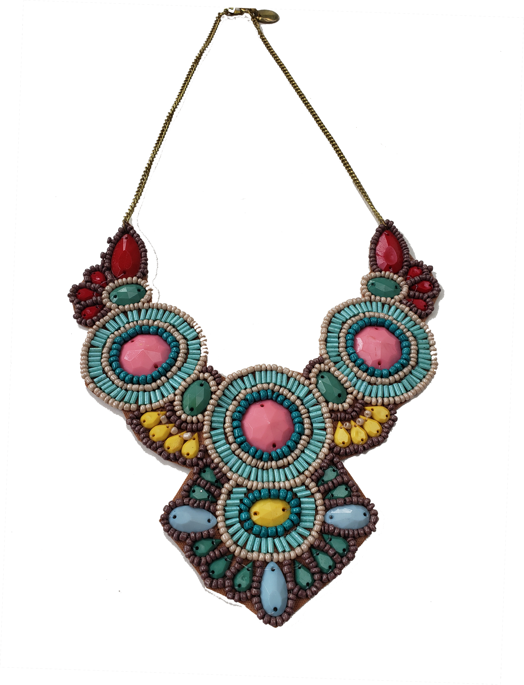 The Anthropologist Beaded Bib Necklace