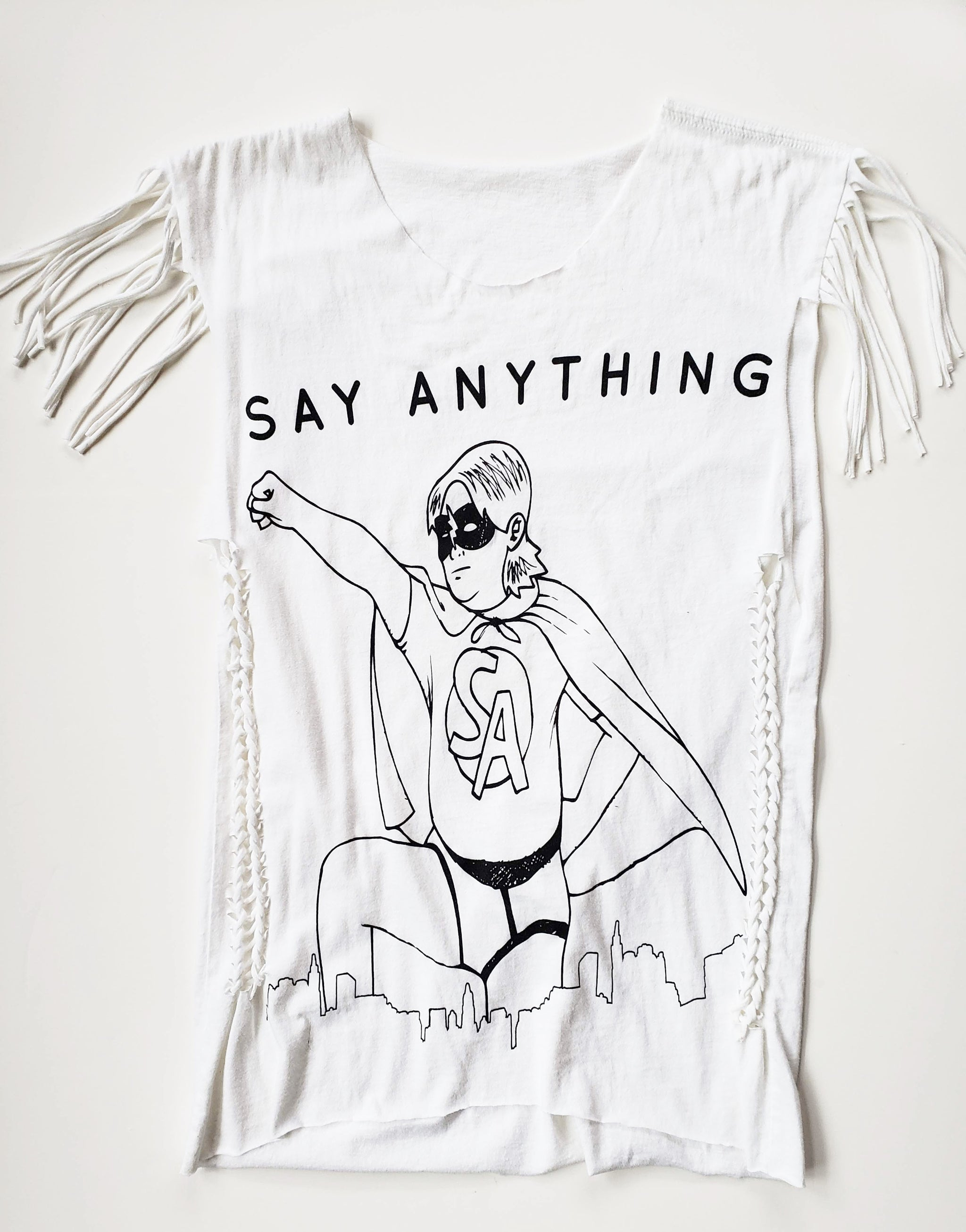 Say Anything Graphic  Slashed  Tee (Only 1)