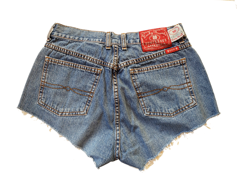 Mid Rise Lucky Jeans Distressed Denim Shorts - Size 10 (Only 1)