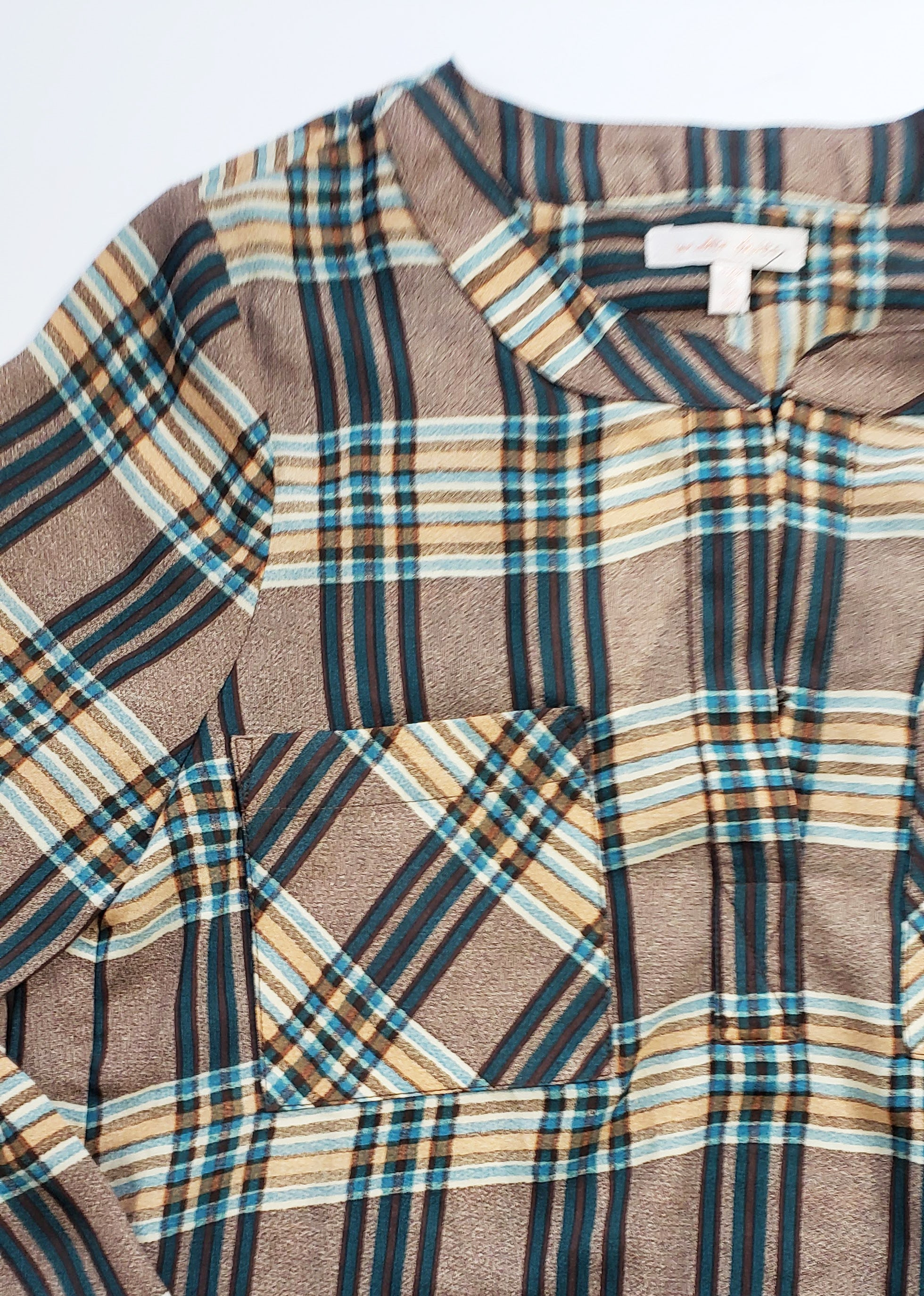 Dappieridoo Mocha Plaid Chiffon Tunic
