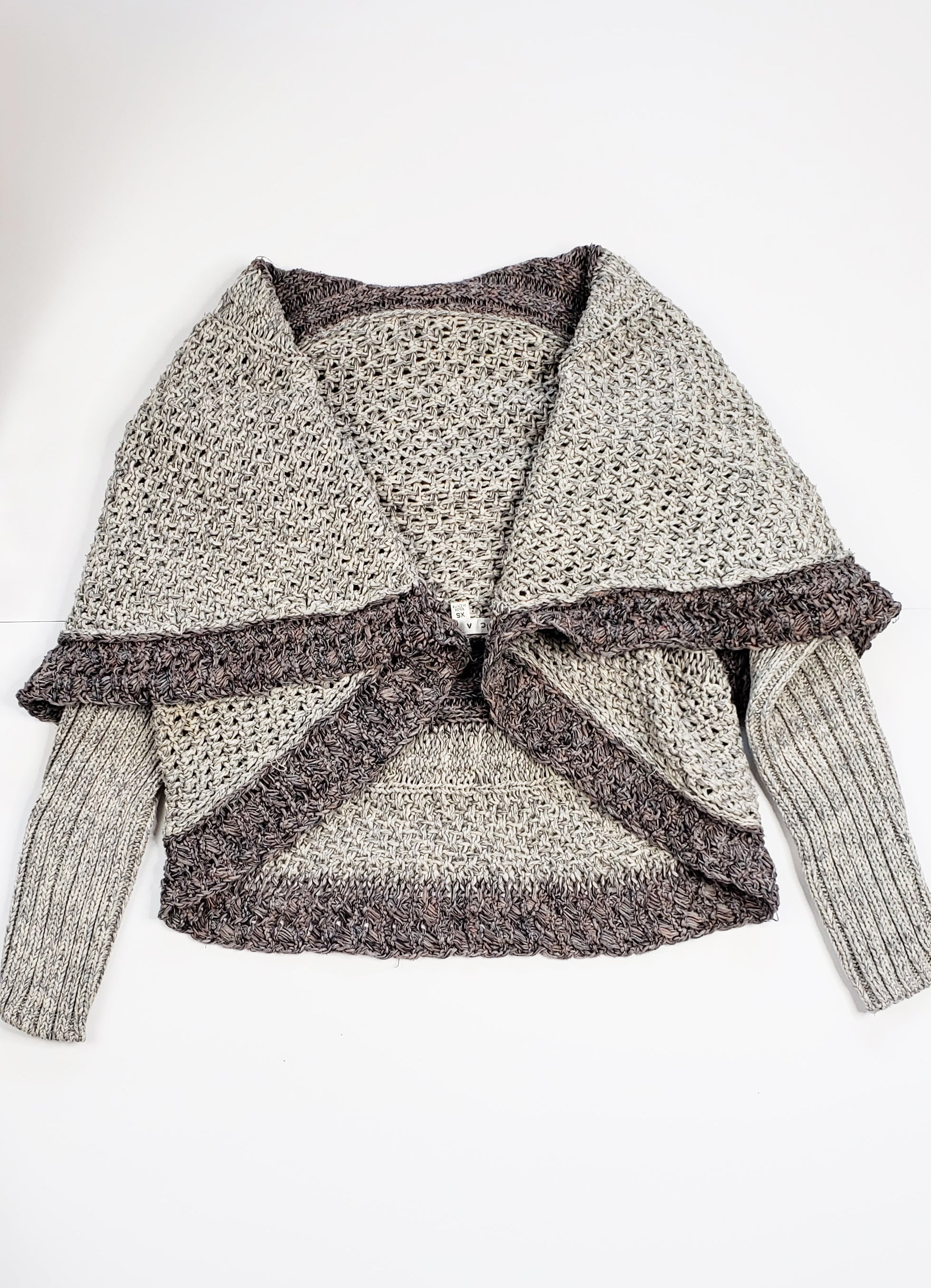 CAbi Crocheted Waterfall Cardigan