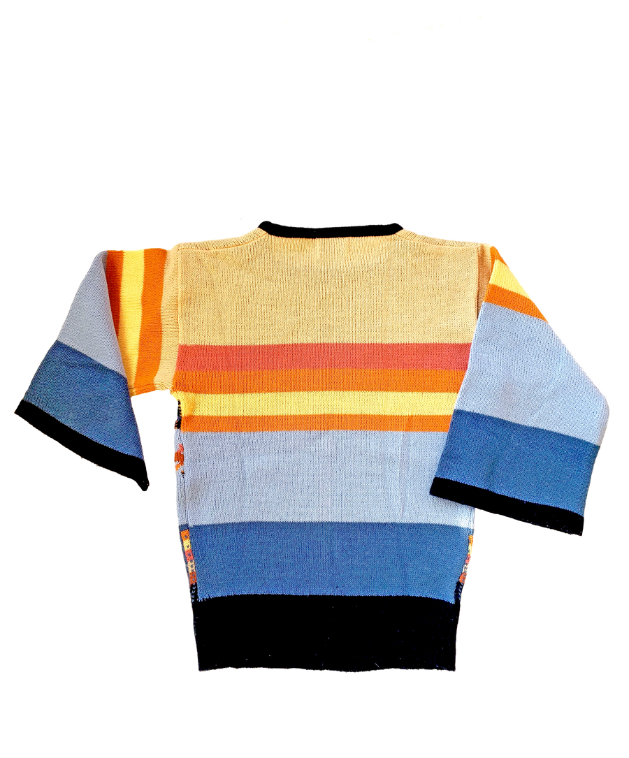 Vintage 70s Collage Ice Cream Sweater